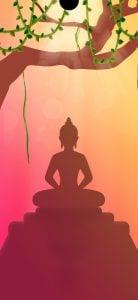 buddha dot notch wallpaper