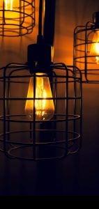 bulb punch hole wallpaper
