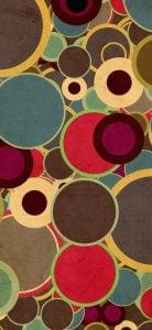color discs dot notch wallpaper