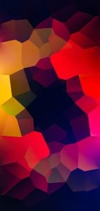 colorful illustration punch hole wallpaper