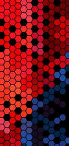 hezagon dots punch hole wallpaper