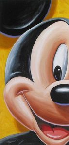 mickey mouse art punch hole wallpaper