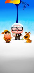 up movie punch hole wallpaper