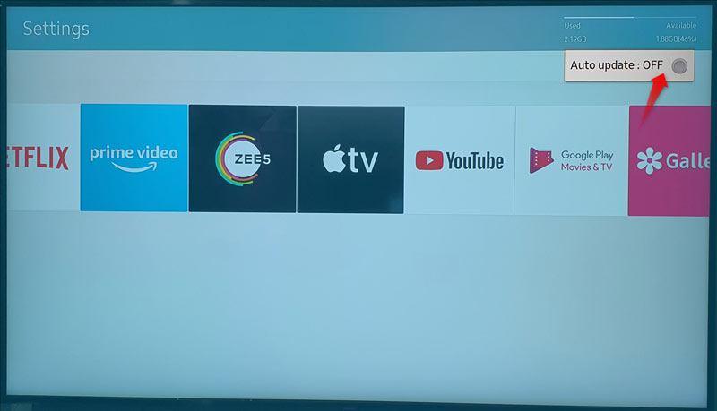 samsung tv auto update apps
