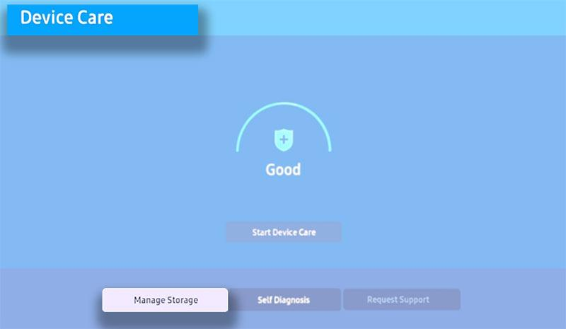 samsung smart tv manage storage