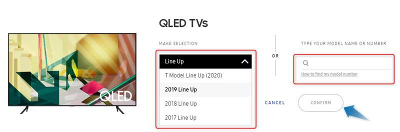 select tv line up