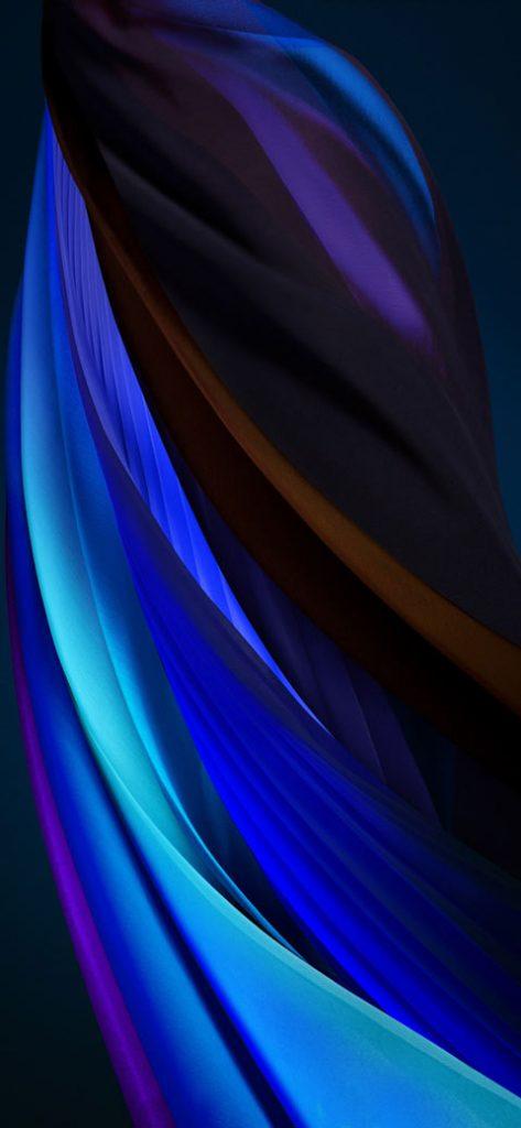silver blue dark iphone se 2020 wallpaper
