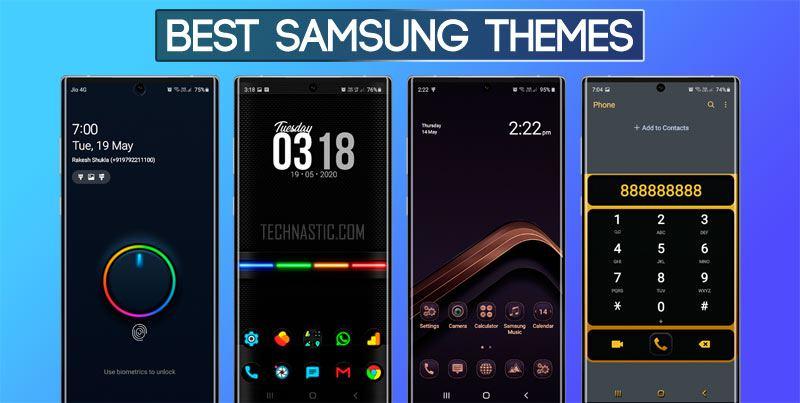 30 Best Samsung Themes In 2020 One Ui 2 Dark Themes