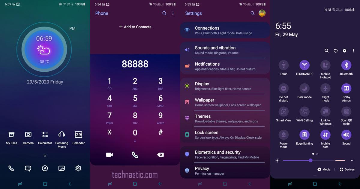 lonely blue samsung one ui theme