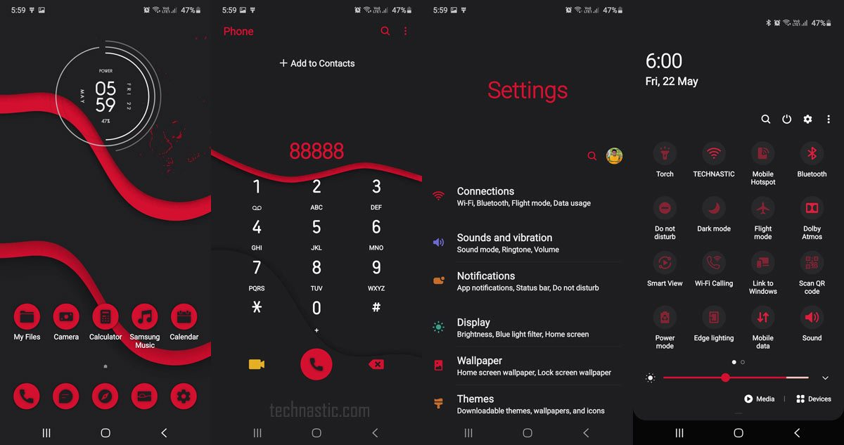 red card ux samsung one ui theme