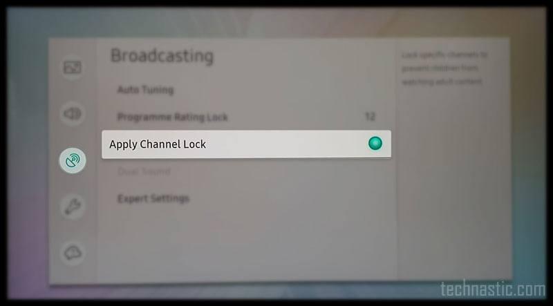 lock channels on samsung smart tv