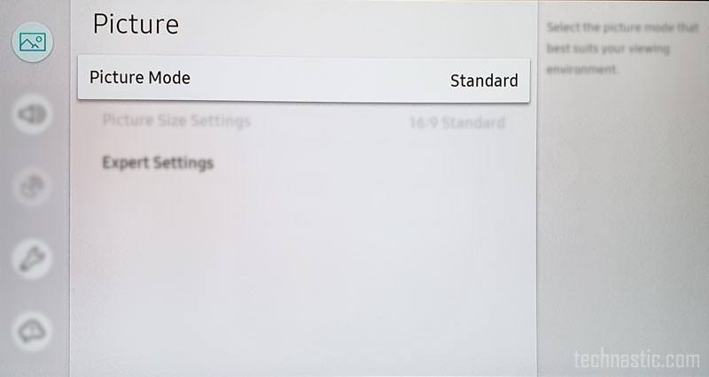 picture settings on samsung tv