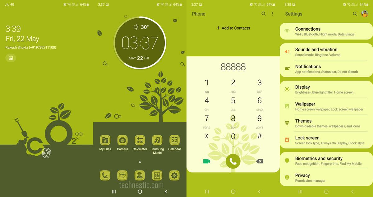 tree samsung one ui 2 theme