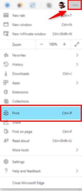 microsoft edge browser menu