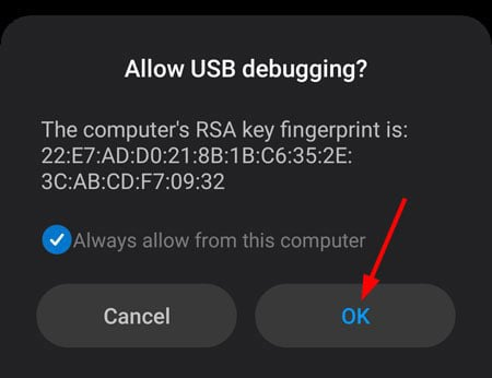 allow usb debugging on xiaomi