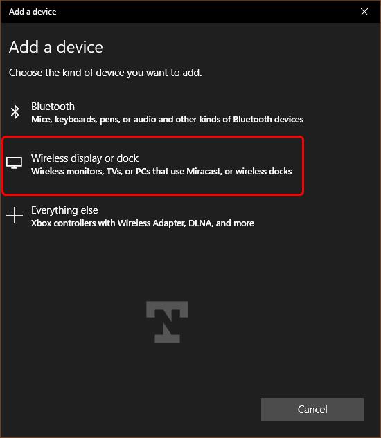 add samsung tv to windows pc