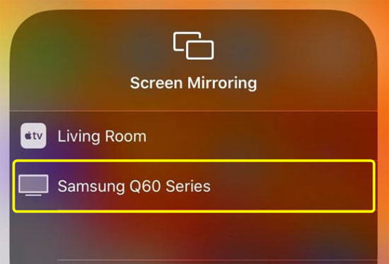 iphone mirroring on samsung tv