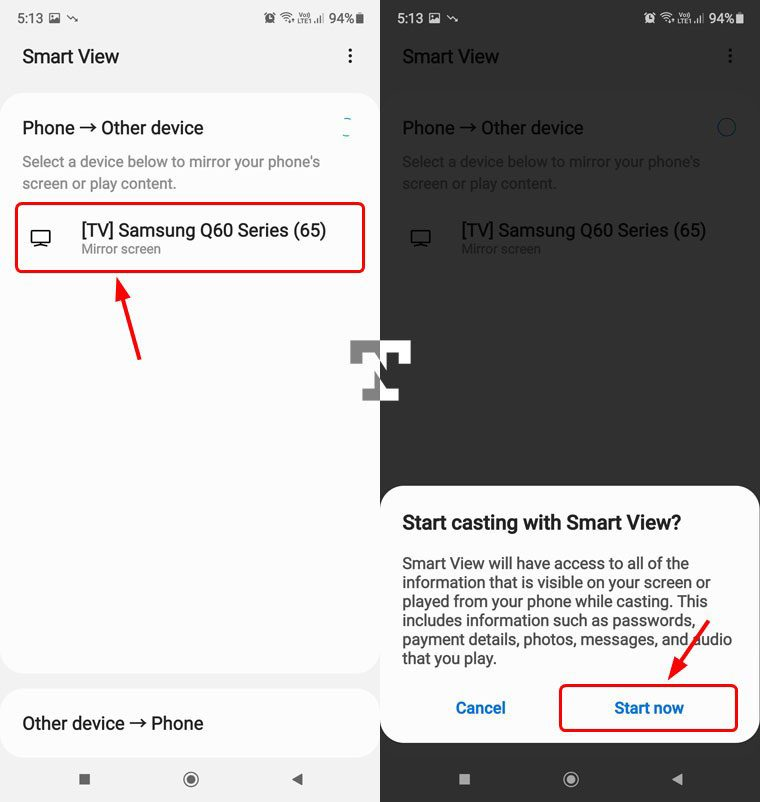 samsung smart view for screen sharing