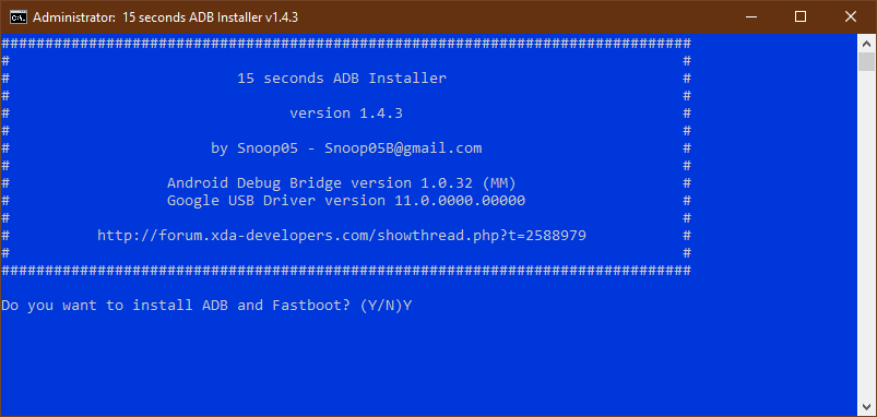 15 seconds adb installer android