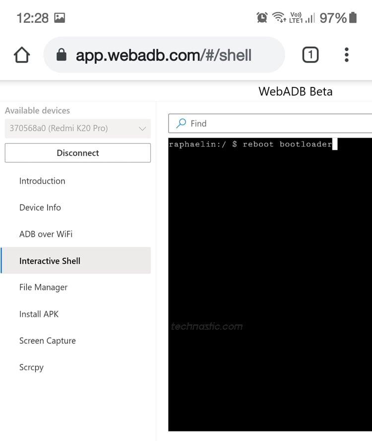 adb reboot bootloader comand