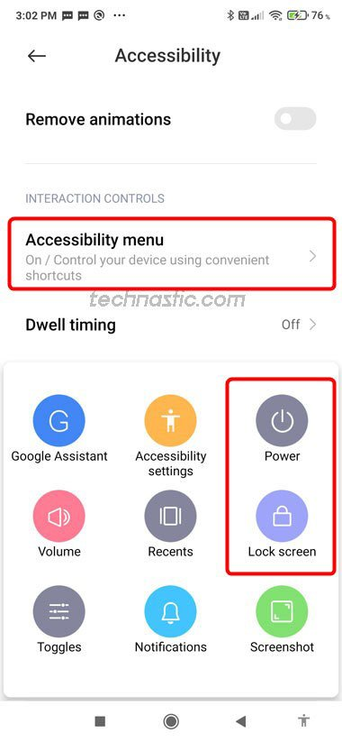accessibility menu android