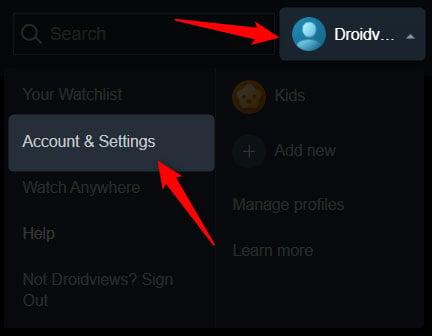 prime video account settings