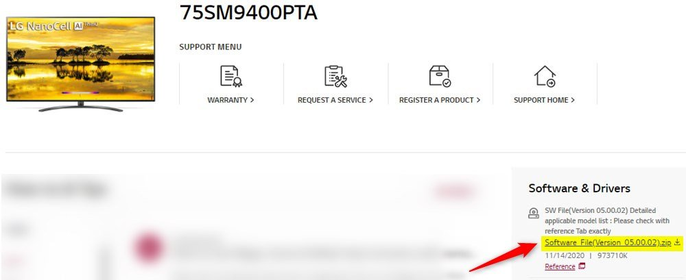 lg tv firmware download page
