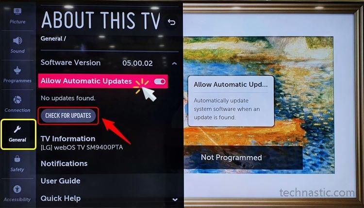 lg smart tv software update