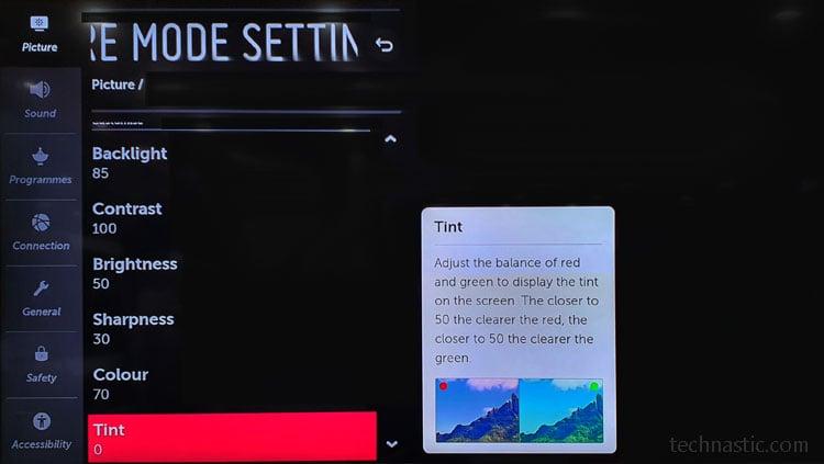 lg nano cell tv picture mode settings