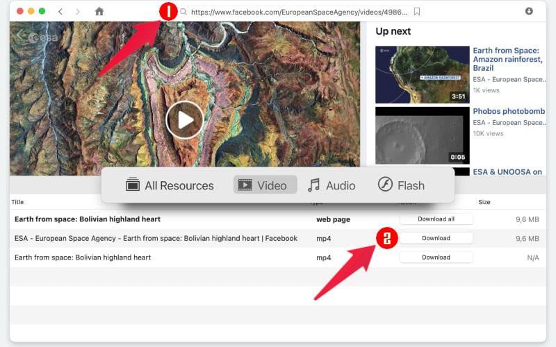 Download Facebook videos on mac with VideoDuke