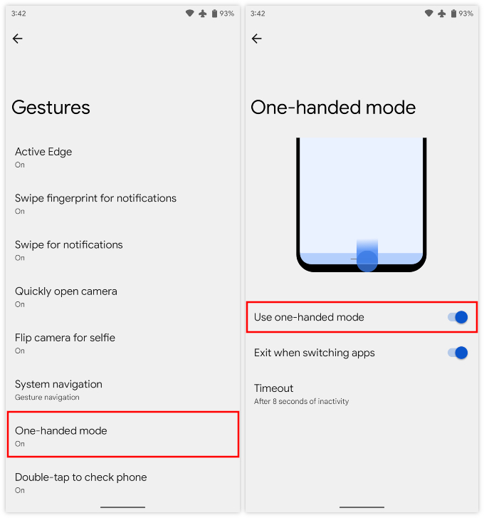 Enable One Handed Mode In Android 12