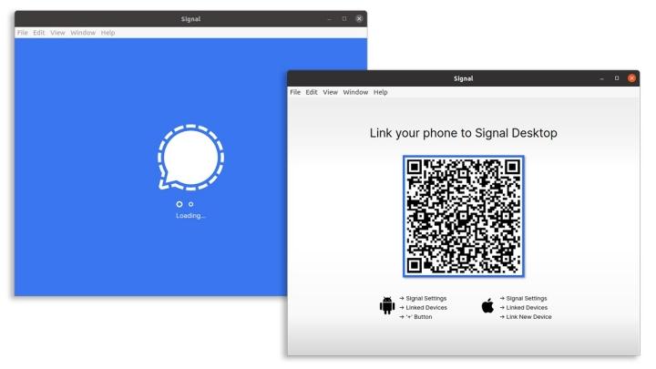 Signal Private messenger desktop app
