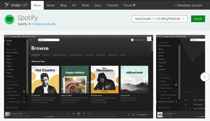 Install Spotify on Linux via Snap
