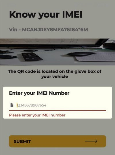 jeep life enter imei number