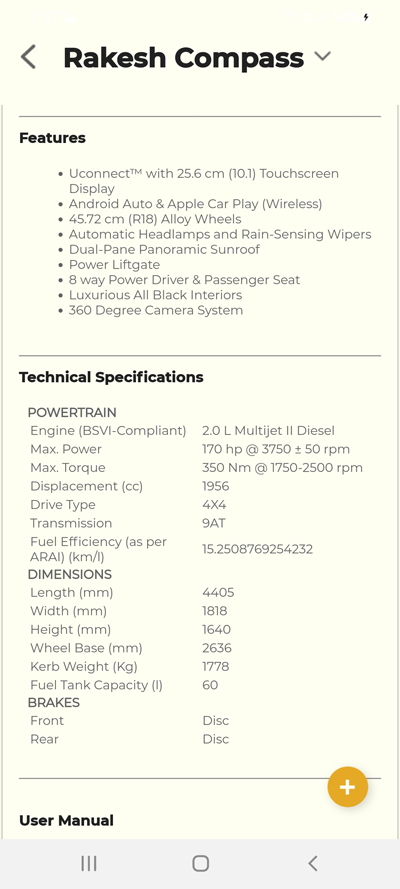 Jeeplife jeep vehicle technical specifications