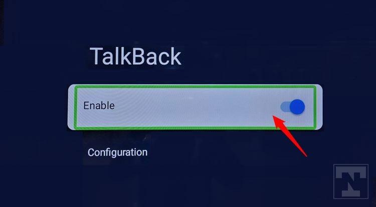 enable talkback on android tv option