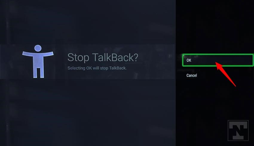 turning off talkback on sony bravia tv