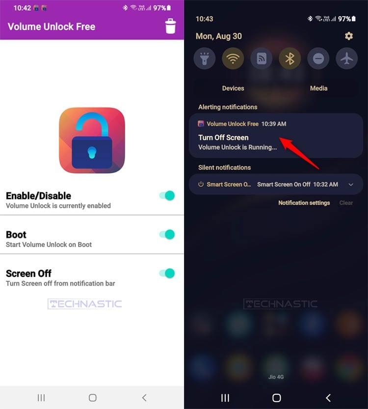 volume button unlock tool android