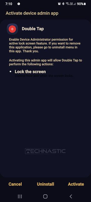 device admin permission android